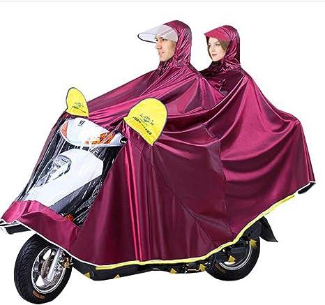 Doble Impermeable, Bicicleta Coche eléctrico Montar al Aire Libre ...