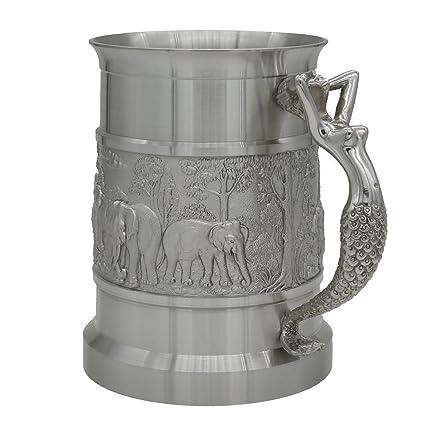Oriental Pewter – peltre jarra de cerveza – Pure lata 97% estaño sin plomo bj09l