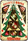 Glass Christmas Tree Ornaments Vintage Reproduction Metal Sign 8x12 8121856