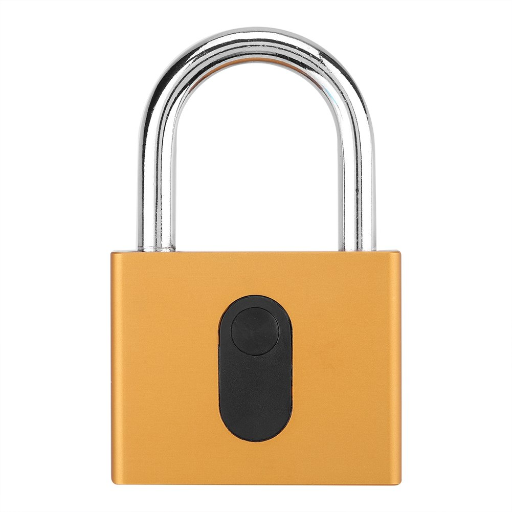 Zerodis Portable Keyless Anti-Theft Smart Lock Waterproof Wireless Padlock Open by Phone Bluetooth APP Button+Fingerprint+Password