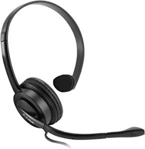 Cellet EP35OP Premium Mono 3.5mm Hands-Free Headset with Boom Microphone- 5ft long wire -Universal compatibility including Apple iPhone, Samsung, PC, LG, Huawei, HTC, LG, ZTE, Blackberry and many more
