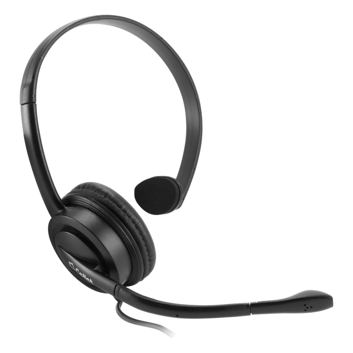 Cellet Universal Premium Mono 3.5mm Hands Free Headset with Boom Microphone, Retail Packaging, Black Pagecomm EP35OP