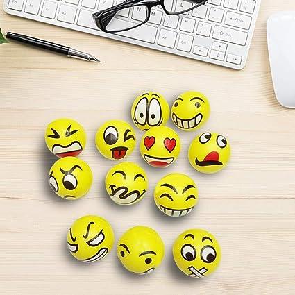 Linier Emoji antipelusas antiestrés con Caras Grandes, 6 ...