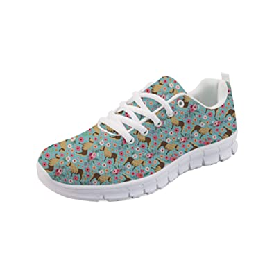 266a1bc4b7626 Amazon.com | Bigcardesigns Flat Running Shoes Lace-ups Breathable ...