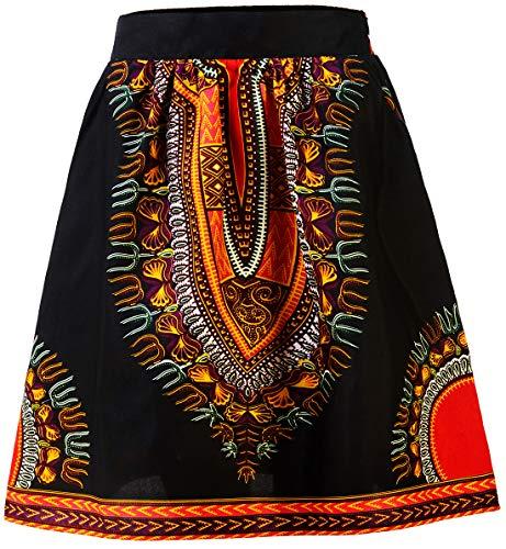 HongyuAmy Women African Print Skirt Dashiki Skirt Ankara Clothing (Large, Color A)