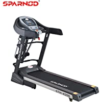 Sparnod Fitness STH-4200 (4.5 HP Peak) Automatic Treadmill (Free Installation Service) – Multifunction Motorized Running Indoor Treadmill for Home Use