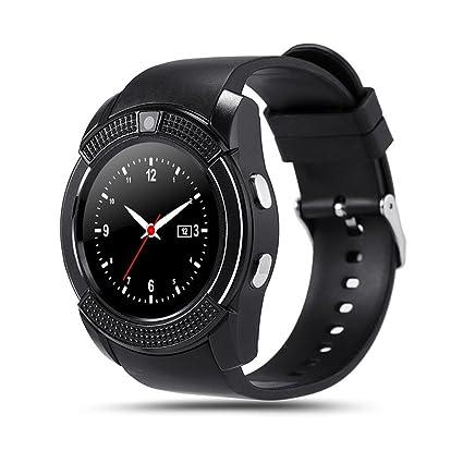 PINCHU V8 Bluetooth Relojes Inteligentes 1.22 Pulgadas Ronda ...