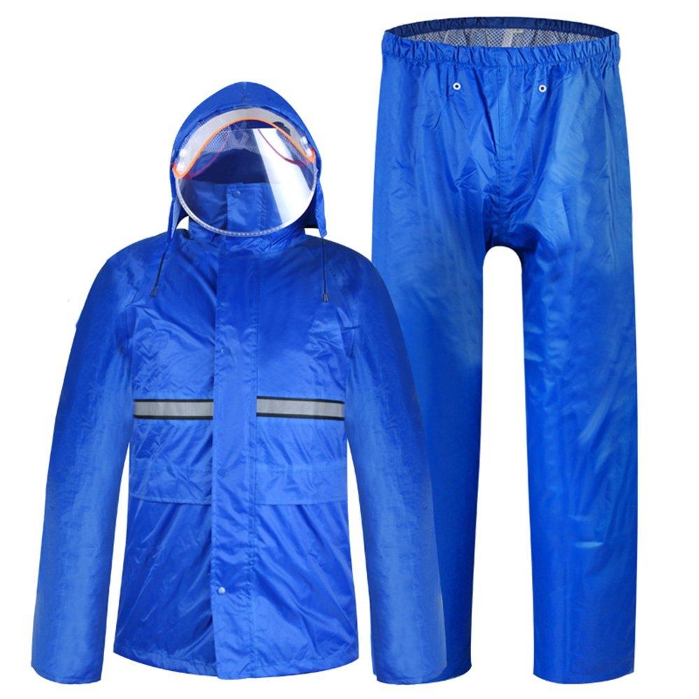 Aihifly tragbar Outdoor Licht Breathable Regenmantel Anzug Erwachsene Split Doppel Schutz Männer und Frauen Reiten Poncho (Größe   XL)