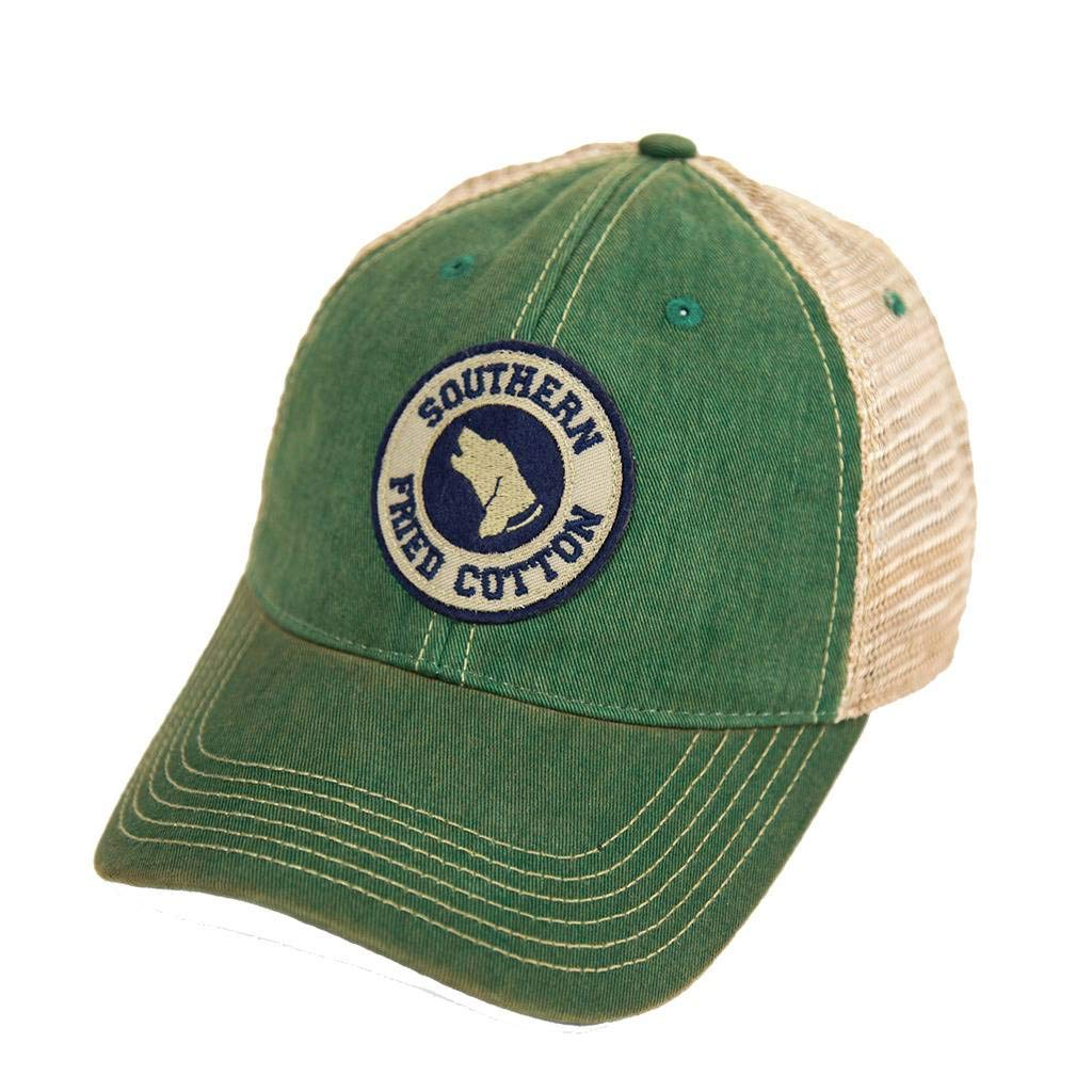 Southern Fried Cotton Howlin Around Trucker Hat-Kelly Green