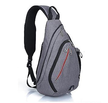 EGOGO Multi-Functional Sling Pack Backpack Cross Body Pack Shoulder Sling  Bag Hiking Dackpack One Should Strap for Men and Women E300-4 (Dark Gray) 9c707951c48da