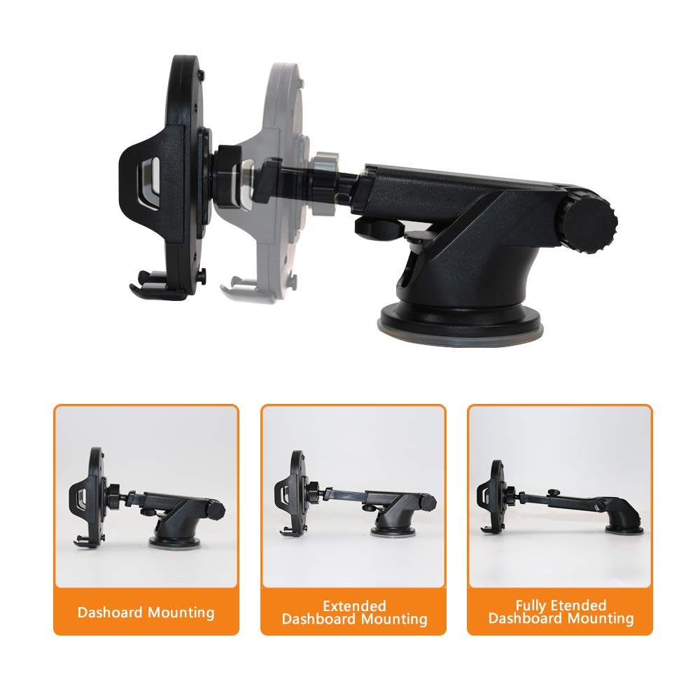 ALOVA Car Phone Mount,Strong Sticky Car Phone Bracket,Extendable Arm Washable Car Phone Holder for iPhone X//8//8Plus//7//7Plus//6s//6Plus//5S,Huawei Mate 20 and More