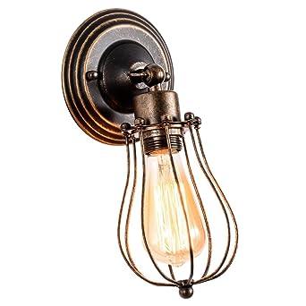 Wandleuchte Vintage Verstellbar Metall Wandlampe Antik Wandlampe Rustikal  Für Landhaus Schlafzimmer Wohnzimmer Esstisch (Gemalt Mit