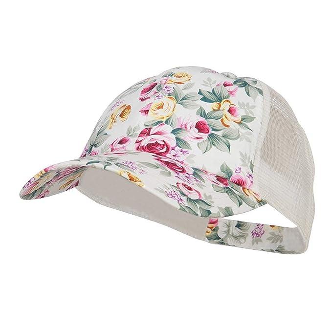 Gorras Gorra De Béisbol para Mujer CAPI Flores Ajustable Sombrero ...