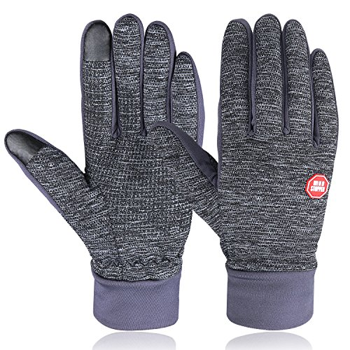 HiCool Winter Gloves, Touch Screen Gloves Winter Warm Thermal Gloves Running Gloves Cold Weather Gloves Driving Riding Cycling Gloves Outdoor Sports Gloves for Men and ()