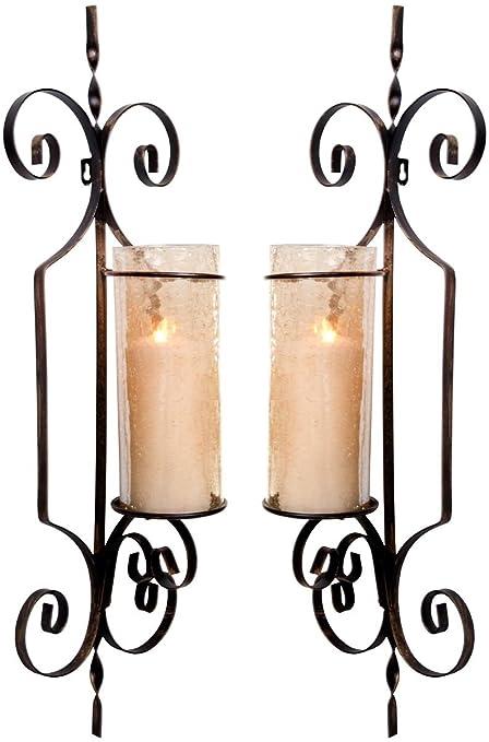 Amazoncom Leraze Set Of Two Decorative Wall Sconce Candle Holder