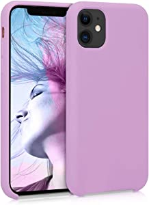 kwmobile TPU Silicone Case Compatible with Apple iPhone 11 - Soft Flexible Rubber Protective Cover - Mulberry