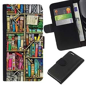 EJOY---La carpeta del tirón la caja de cuero de alta calidad de la PU Caso protector / Apple Iphone 5C / --La lectura de la Biblioteca Escolar Teach