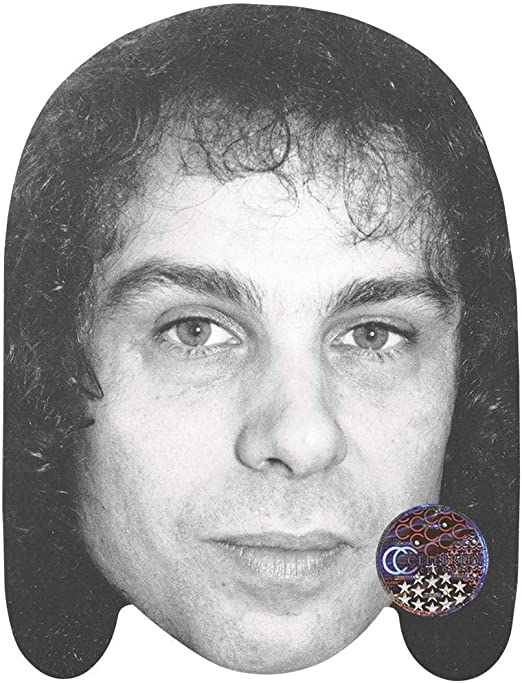 Card Face and Fancy Dress Mask BW Ronnie James Dio Celebrity Mask