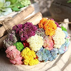 ShineBear Plantas artificiales para decoracion Artificial Flowers DIY Artificial Baby's Breath Flower Gypsophila Fake Succulent Plants 40