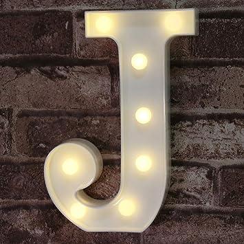 LED Marquee Letter Lights Sign, Light Up Alphabet Letter for Home Party Wedding Decoration J