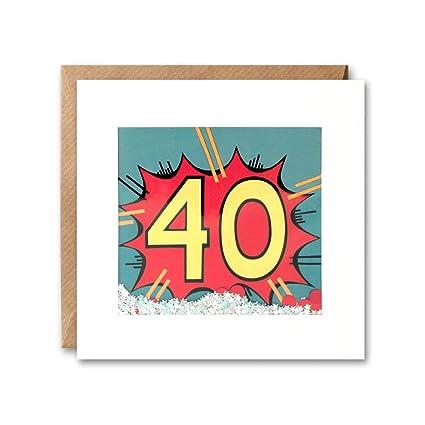 James Ellis Kapow Shakies edad 40 cumpleaños tarjeta: Amazon ...