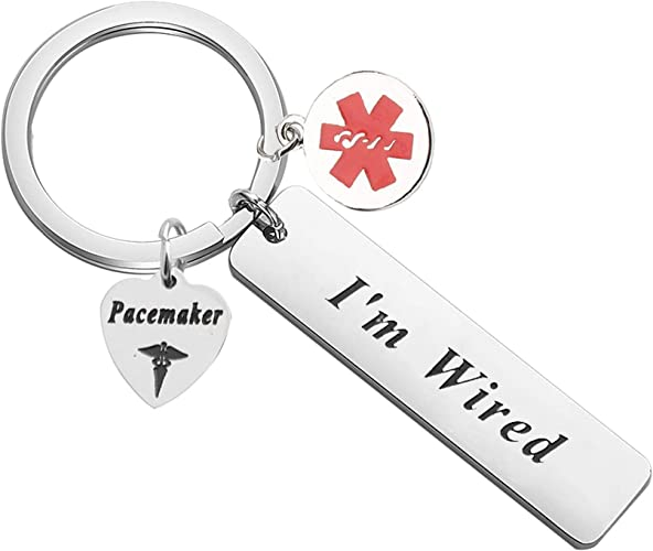 PACEMAKER Medical Alert Metal Key Ring MADE IN THE USA!