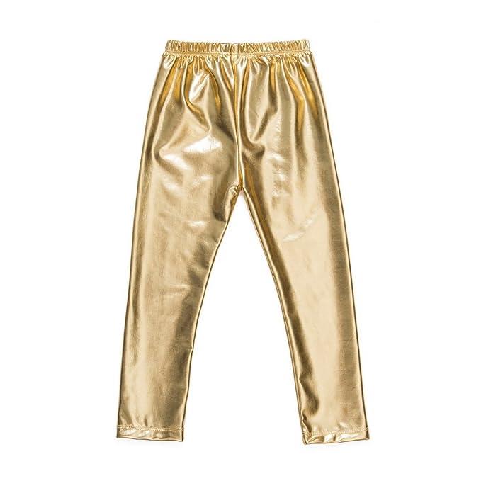 Messy código Kids bebé niñas Pantalones Leggings para niña bebé Oro Pantalones