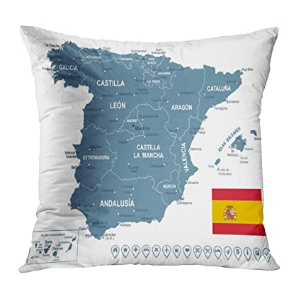 Amazon.com: TOMKEYS Throw Pillow Cover Black Catalonia of ...