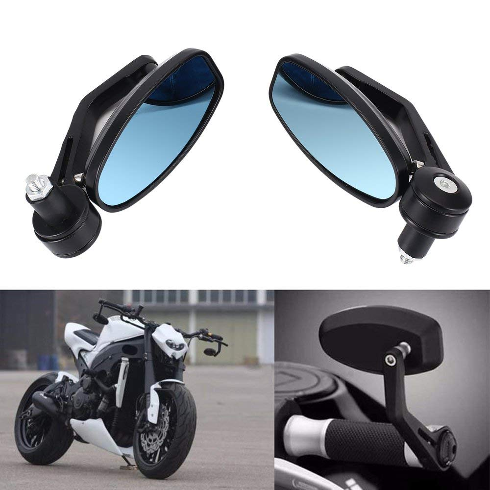 1 par de Motocicletas 7//8manija Barra Extremo retrovisores Laterales retrovisores Fit Honda Yamaha