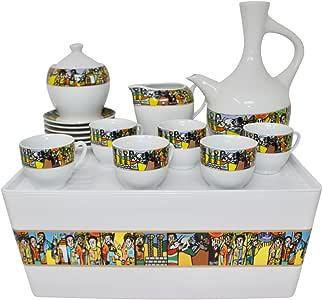 Ethiopian/Eritrean Traditional Coffee Set. Sábá Edition. Full Set.: Amazon.ca: Home & Kitchen