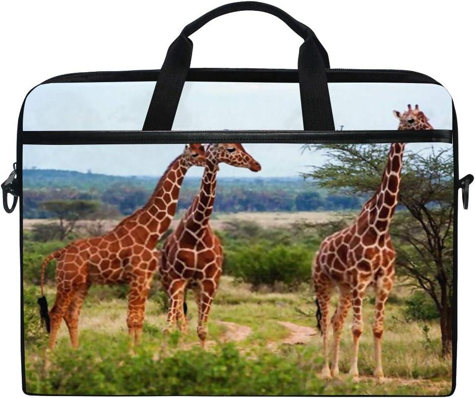 College Students Business People Office Workers Laptop Bag Giraffes Kenya 15-15.4 Inch Laptop Case Briefcase Messenger Shoulder Bag for Men Women