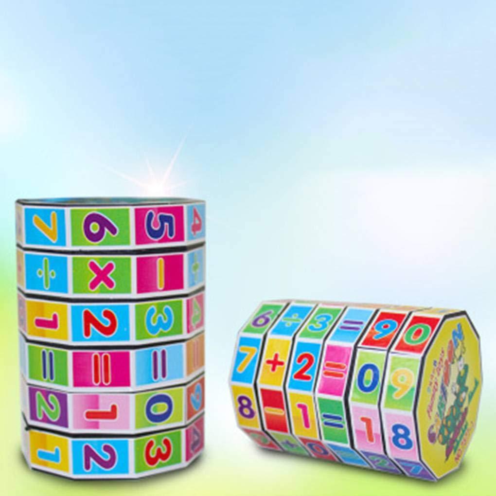 Uzinb Los ni/ños Rompecabezas temprana Matem/áticas de la educaci/ón del Juguete Digital Cubo de Rubik Matem/áticas Puntales de Aprendizaje