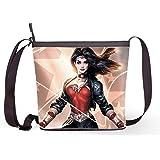 Fashion Casual and Popular Female Sling Bag Crossbody Bag Shoulder Bag with Wonder Woman Print