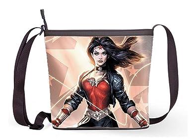 a15a079b1e8 Ladies Sling Bag Shoulder Cross Body Bag With Wonder Woman Print ...