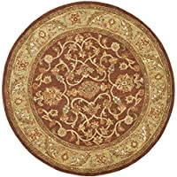 Safavieh Golden Jaipur Collection GJ250E Handmade Rust and Green Premium Wool Round Area Rug (4 Diameter)