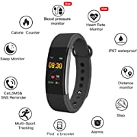 Bingo F1SQSmart Watch for Android iOS Phone, IP67 Waterproof Fitness Tracker Watch with Activity Trackers, Step Counter, Sleep Monitor, Pedometer Watch, Smartwatch for Women Men