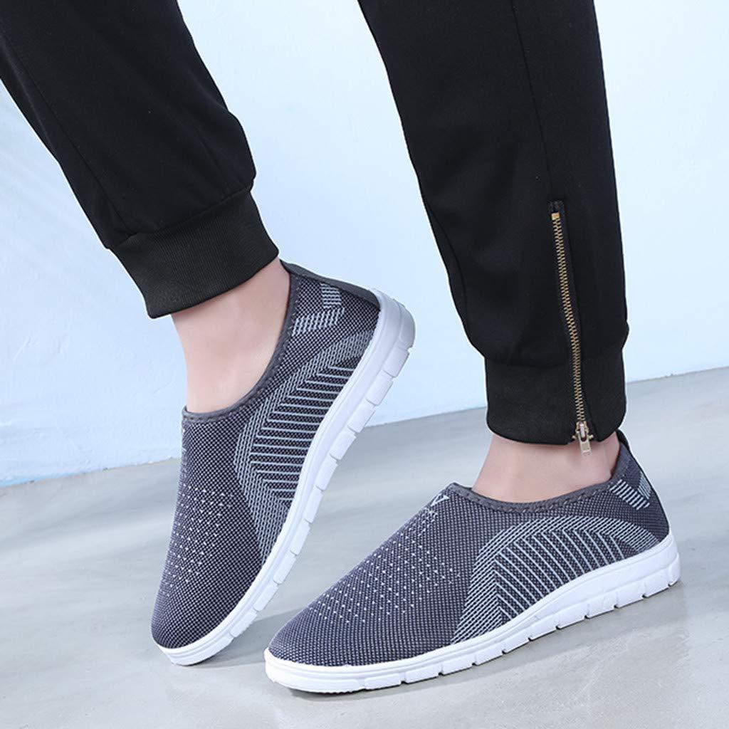 Sunnywill Chaussures D/écontract/ées Respirantes /à Fond Plat Couple de Baskets