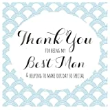"""Claire Giles Quill """"Thank you for being my Best Man"""" Wedding Card"""