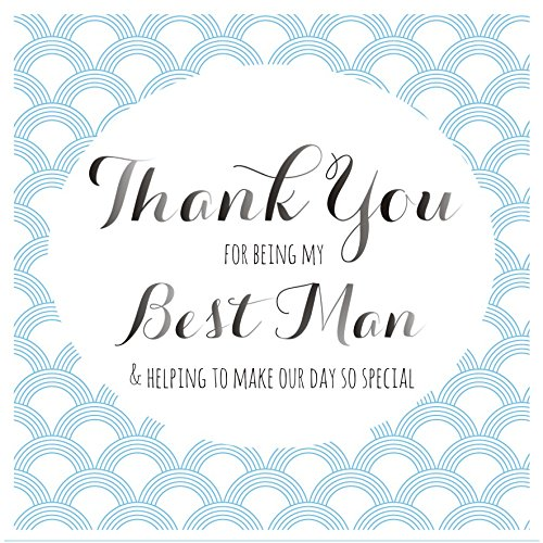 Claire Giles Quill'Thank you for being my Best Man' Wedding Card