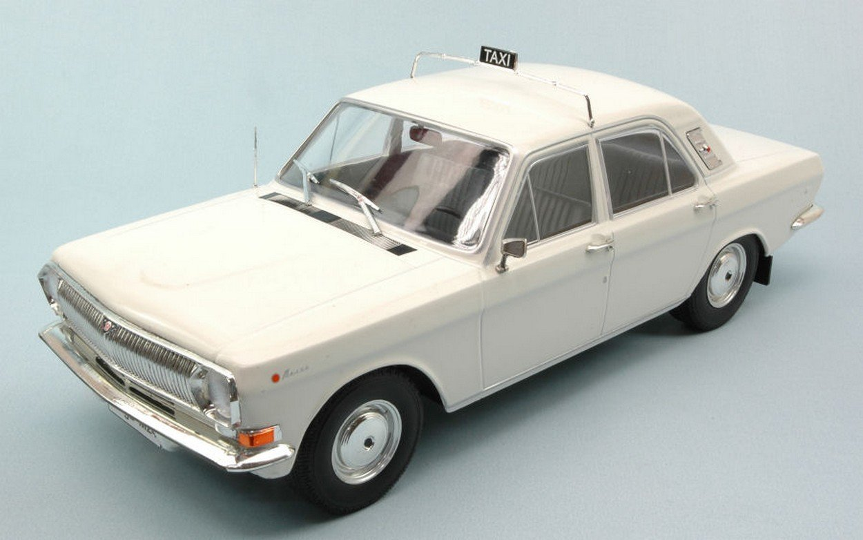 MODELCARGROUP MCG18017 Volga M24 1967-1992 Taxi White 1:18 MODELLINO Die Cast