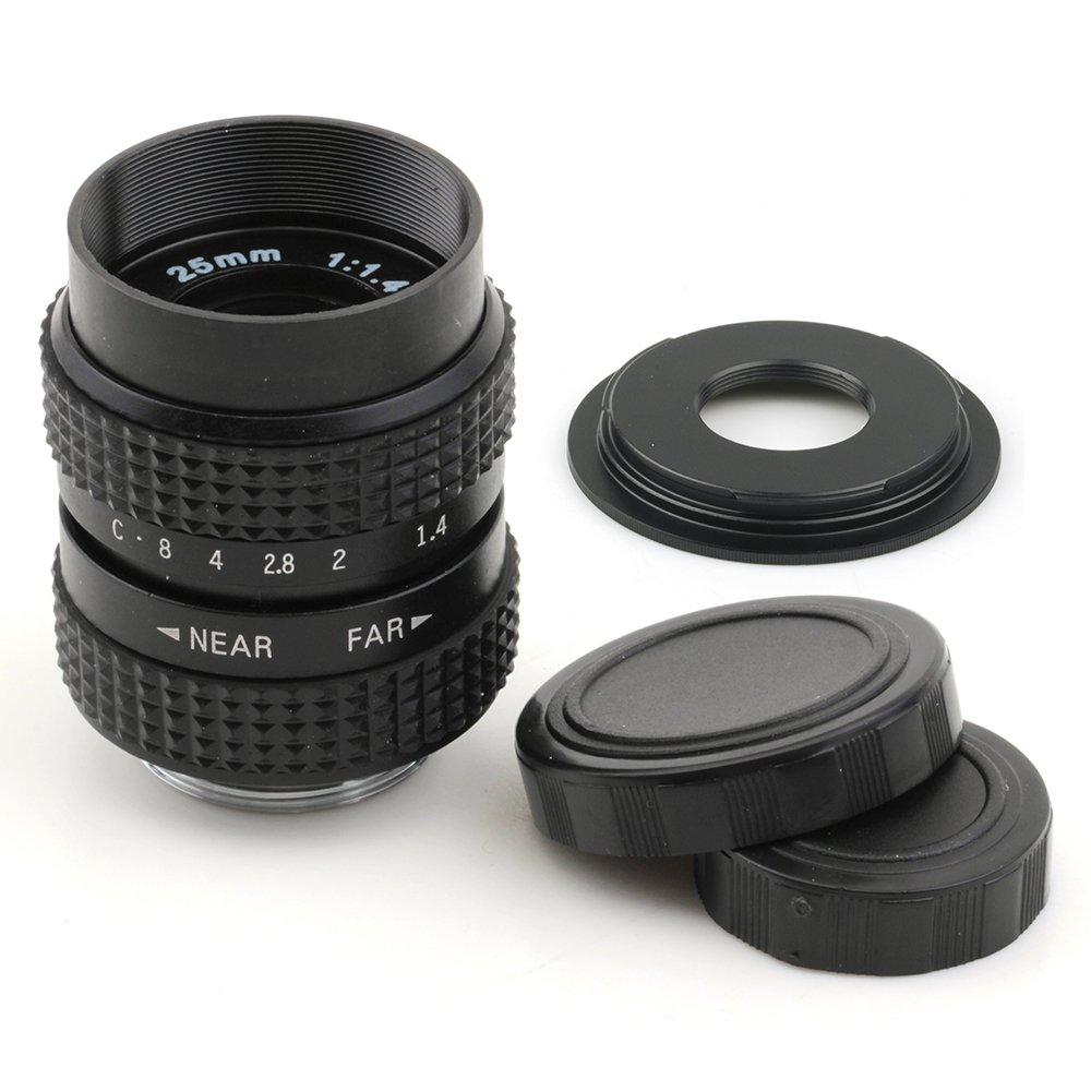 Pixco 25mm F1.4 CCTV Lens for C Mount Camera + 16mm C Mount Lens to Fujifilm X Camera Lens Adapter LYSB01IEEZCPG-ELECTRNCS
