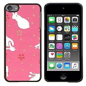 Jordan Colourful Shop - Cute Easter Bunny Animal Pink For Apple iPod Touch 6 6th Generation Personalizado negro cubierta de la caja de pl????stico