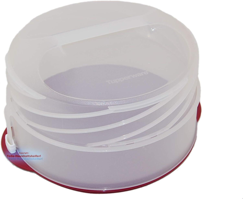 Deckel mit Glitzer NEU+OVP Tupperware/® Tortentwist h/öhenverstellbarer Torten-Beh/älter Exclusiv Serie Bordeaux-Rot Kugelschreiber *Tolle Haushaltshelfer*