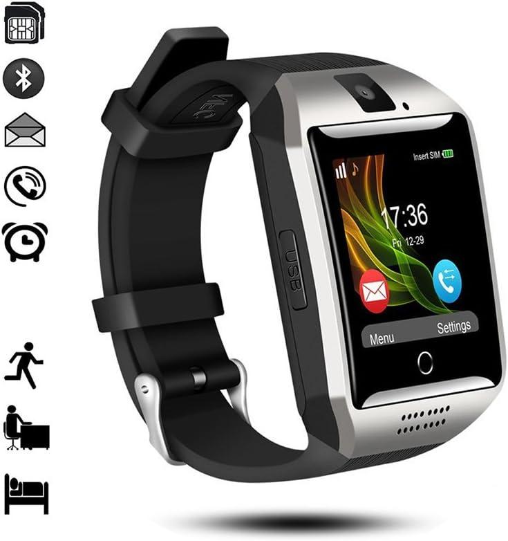Reloj Inteligente Bluetooth,gearlifee Android iOS Smartwatch Curved-Screen Watch, con cámara, Ranura para Tarjeta SIM TF, podómetro, Monitor de sueño para iPhone, Sumsang,Huawei,Sony,Xiaomi(Plata)