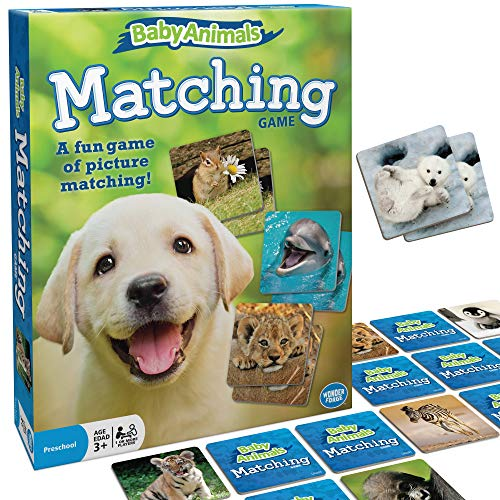 Wonder Forge Baby Animals Matching Game for Boys & Girls Age 3 to 5 - A Fun & Fast Animal Memory Game