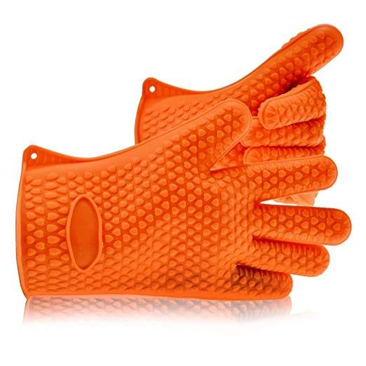 Barbacoa Grill guantes de cocina de silicona resistente al calor ...