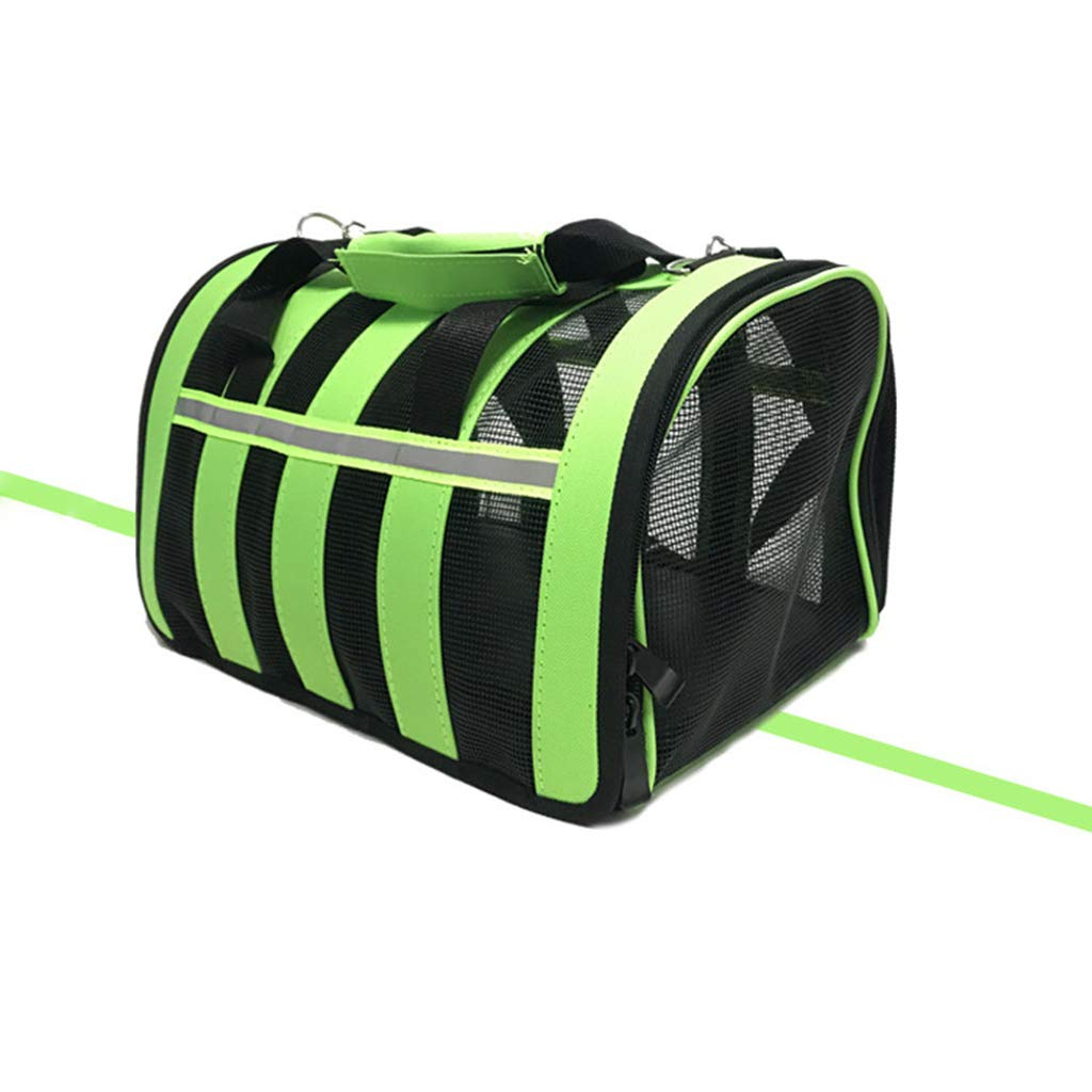 Green Medium Green Medium Fashion Premium Pet Backpack,Cat Dog Tote,Puppy Bag,Ventilated Design,for Travel, Hiking, Outdoor Use,Green,M