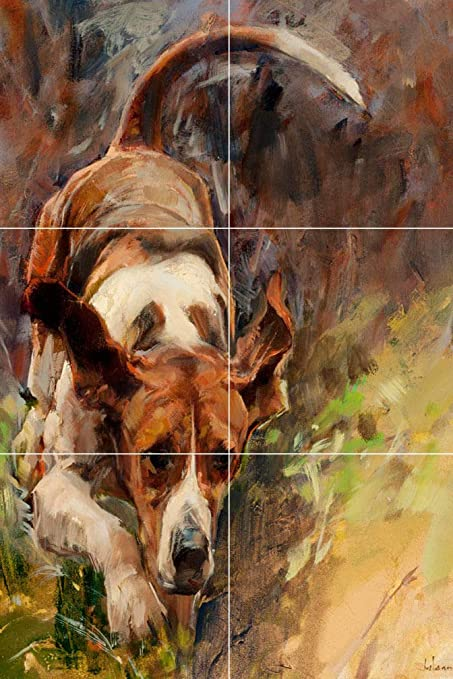 Swell Fox Hunting Foxhounds Dog Painting Ceramic Tile Mural Download Free Architecture Designs Xoliawazosbritishbridgeorg