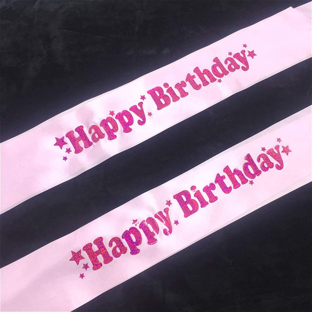 Pink CS/&BEAUTY 2-Pack Set of 21st Birthday Sash and Rhinestone Crown Tiara Include Pearl Pin for Stitching and Gift Box Packing Perfect Decoration 21st Birthday Celebrations