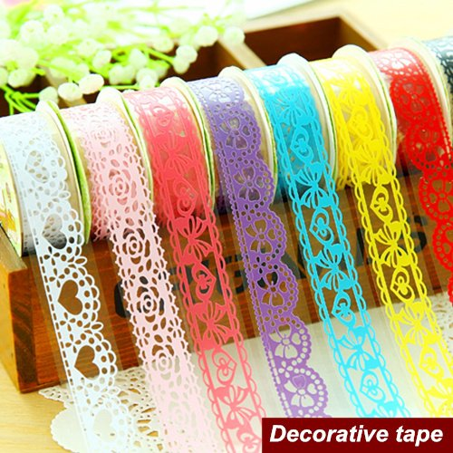 Lace Tape Tape Lace Masking 10 pcs/Lot Bud Silk Stickers Decorative Lace Tape adhesvie Masking Tape Scrapbooking Tools School Supplies 6410